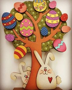 Easter tree vector dxf cdr svg for cnc vector file digital vector art cnc cnc file cnc pattern cnc cut laser cut ideas for spring tree crafts christmas decorations tree Easter Arts And Crafts, Spring Crafts, Kids Crafts, Diy And Crafts, Happy Easter, Easter Bunny, Easter Eggs, Easter Cake, Diy Y Manualidades