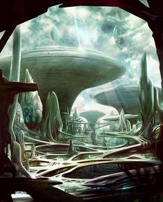"""""""Thistledown City"""" by #TiborBedats.  #sciencefiction #scifi"""