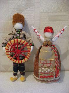 кукла Спиридон Солнцеворот и кукла БЛАГОДАТЬ