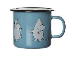 Moomin-Enamel-Mug-Retro-Moomintroll-Light-Blue-0-25-L-Muurla-Finland