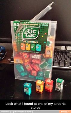 This is a great gift Idea, it is an official Giant Tic Tac Box with Mini Tic Tac boxes inside. Miniature Crafts, Miniature Food, Miniature Dolls, Objet Wtf, Mini Craft, Tiny Food, Cool Inventions, Miniture Things, Dollhouse Miniatures