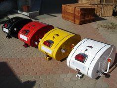 Royal Enfield Inder single-wheel motorcycle trailer. #motorcycletrailers #customcolors #trailers