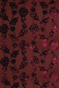 Anna French velvet floral wallpaper