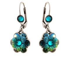 Michal Negrin Jewelry Silver Crystal Flower