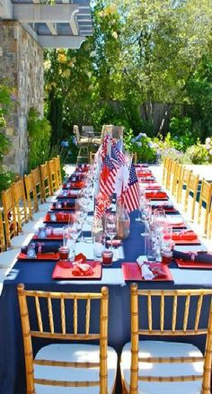 table.setting | 4th of July | Pinterest | Patriotic party, Nautical ...