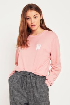 Shop Stussy Dominos Pink Long Sleeve T-Shirt at Urban Outfitters today. We carry all the latest styles, colours and brands for you to choose from right here.