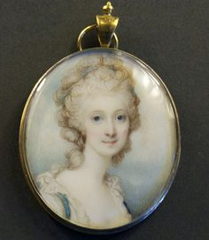 """Anne Sawbridge nee Stephenson by Richard Cosway. Anne Stephenson married Alderman John Sawbridge (c.1732-1795) in 1766. He was elected M.P. for Hythe in 1768 and for London in 1774, 1780 and 1784 and 1790. He became Lord Mayor of London in 1775. Anne was featured in an etching by James Gillray called """"the royal joke,- or - black jacks delight"""", published 25 April 1788."""