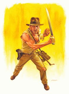 Jason Edmiston: Indiana Jones and the Temple of Doom Indiana Jones, Comic Books Art, Comic Art, Book Art, Jason Edmiston, Steven Spielberg Movies, Pop Culture Art, Movie Poster Art, Harrison Ford