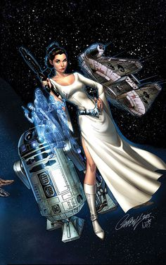 Princess Leia #1 variant cover by J. Scott Campbell
