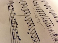 My photography of a sheet of music
