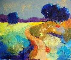 huile sur toile 55x46cm France Drawing, Abstract Animals, Landscape Paintings, Landscapes, Impressionism, Pop Art, Street Art, Original Art, The Originals