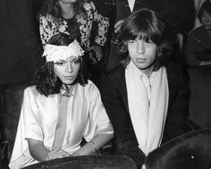 Bianca Jagger and Mick Jagger at Studio 54. Effortlessly glamorous.