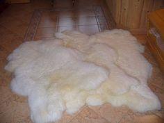 MEDIUM SHEEPSKIN   White Throw Genuine leather by TrendingSlippers, $44.90