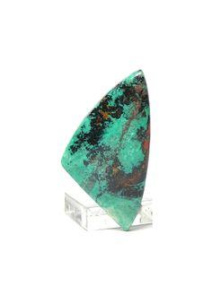 Blue Green Chrysocolla Bright Red Cuprite Copper by FenderMinerals,
