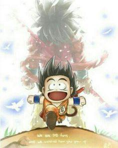 Goku as a kid and super sayian 4