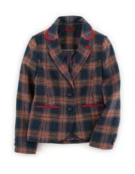 British Tweed Blazer (Blue Check)