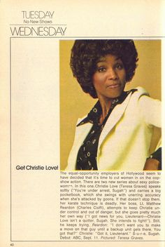 Get Christie Love! (1974) starring Teresa Graves - TV Guide Series Preview