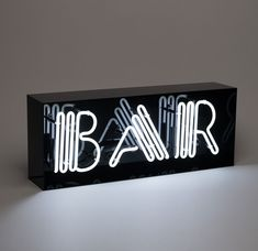 For the epic man cave, drink aficionado, or local bar owner, this oversized Bar neon light is bound to turn heads. The handcrafted glass neon tubes are enclosed in a glossy black acrylic box, making it a statement piece for any room. Neon Light Signs, Neon Signs, My Cinema Lightbox, Lead Boxes, Cocktail Accessories, Neon Quotes, Led Wall Lights, Acrylic Box, Neon Lighting