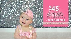 Love to sparkle? Don't miss our $45 + Free Shipping Sequin Backdrop Sale through 2/20/15!