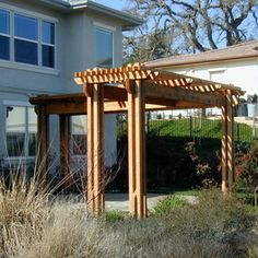 Pergolas Designs Two Level L Shaped Pergola Pergolas
