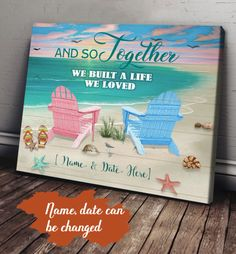 Love Home, Canvas Poster, Custom Photo, Canvas Material, Our Love, 5 Years, Cotton Canvas, Solid Wood