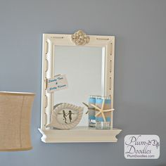 Wayfair Stratford Wall Mirror with Shelf- DIY Challenge using rope | PlumDoodles.com