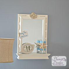 Wayfair Stratford Wall Mirror with Shelf- DIY Challenge using rope | PlumDoodles.com