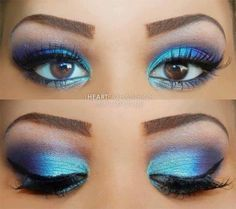 Pretty for costume makeup..
