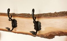Live-Edge Maple Coat Hook - One-of-a-kind item. Rustic Coat Hooks, Etsy Seo, Elo 7, Advertising And Promotion, Gifts For Him, Really Cool Stuff, House Warming, Vintage Items, Coat Racks