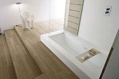 Vasca a semi incasso trasformabile in doccia: piano - VASCA DOCCIA semi incasso