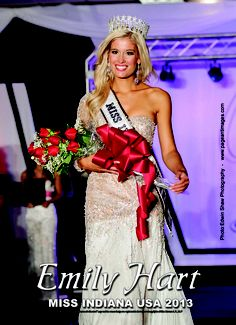 Miss Indiana USA 2013, Emily Hart wearing Ashley Rene's during her crowning moment.