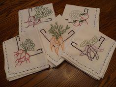 Hand-Stitched Flour Sack Towels