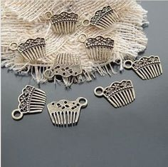 50pcs Alloy Fashion Jewelry components and findings by aliyafang, $6.98