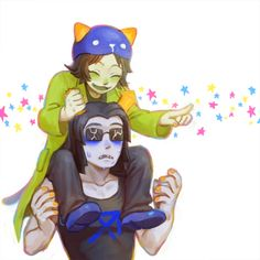 Nepeta and Equius by Neungson on Tumblr, meowrails, homestuck