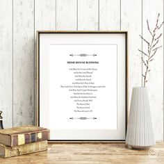 Printing Services, Online Printing, Irish Prayer, Laundry Symbols, House Blessing, Shape Posters, Irish Quotes, Wall Decor Quotes, Art Wall Kids