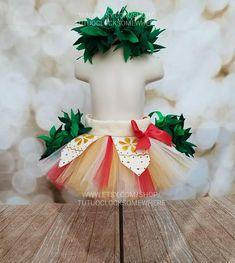 SIX-PIECE SET! Moana Inspired Tutu Skirt And Headband, Moana Skirt, Moana Costume, Moana Party, Adult Moana Tutu, Moana Birthday