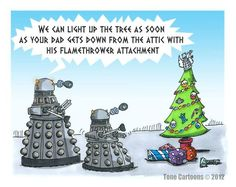 Dalek and the Christmas tree
