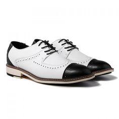 Vintage Carving and Splice Design Formal Shoes For Men, WHITE, 44 in Men's Shoes | DressLily.com