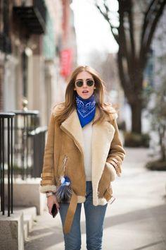 Chiara Ferragni wearing #AcneStudios Velocite oversized shearling jacket (http://www.acnestudios.com/velocite-black.html) at New York Fashion Week #NYFW