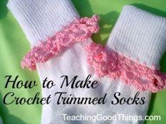 crochet trim socks