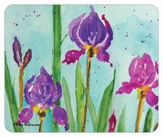 """Mouse Pad """"Uplifting Iris' """" by pattysgardenstudio"""