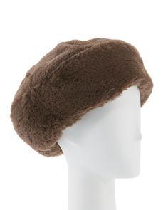 Eugenia Kim Mishka Faux-fur Beret Hat In Dark Grey Just Over The Top, Fur Headband, Mishka, Eugenia Kim, Fox Fur, Beret, Dark Grey, Winter Hats, Neiman Marcus