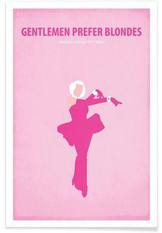 Gentlemen prefer Blondes as Premium Poster by Fräulein Fisher | JUNIQE
