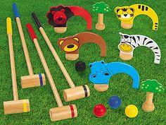 Indoor/Outdoor Kids' Croquet at Lakeshore Learning Outdoor Toys For Kids, Outdoor Activities For Kids, Outdoor Learning, Diy For Kids, Gifts For Kids, Indoor Outdoor, Lakeshore Learning, Diy Games, Backyard Games