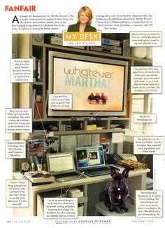 Martha Stewart her office at home