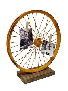 Found it at Wayfair - Metal Bike Wheel Table Art Sculpture Bicycle Decor, Bicycle Art, Bicycle Design, Vintage Bike Decor, Bicycle Crafts, Decorative Objects, Decorative Pillows, Bike Craft, Bicycle Wheel