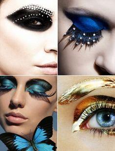 Festive Eye Makeup with Disco Eyelash Extensions - Fashion - Women's Wear - Makeup - Accessory - Eye Makeup - Eyelashes