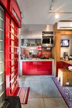 Yoppi's 350 sq ft Indonesian apartment plan works in part because of dual or triple functioned home accessories — Small Cool | Apartment Therapy | Tiny Homes