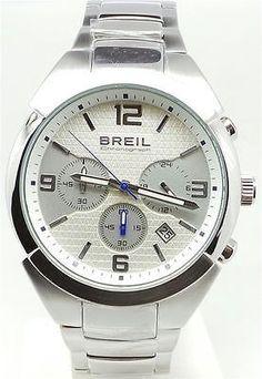 Breil Cronografo Orologio Polso Uomo Silver Gap Chrono Gent 47 MM TW1274