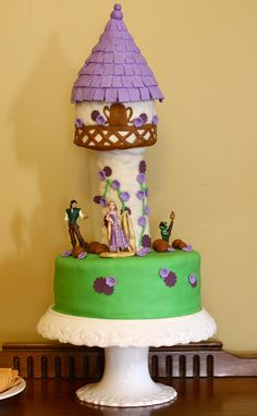Rapunzel cake--I could never do this one, but it's pretty awesome!  (from At Second Street)